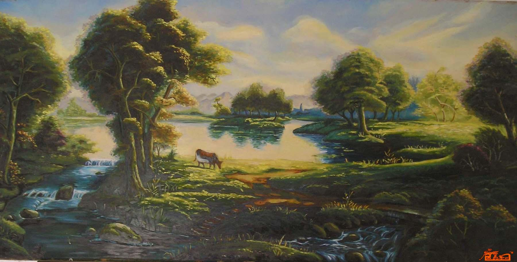 苏红艺-风景油画(夹板)-淘宝-名人字画-中国书画服务